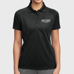 E- 2 Mom Dri Mesh Polo